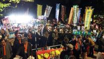 安保関連法:「今すぐ廃止」国会前9000人が抗議集会